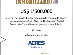 Fondo Capital Constructor de ACRES SAFI financió US$ 1.5 millones para capital de trabajo