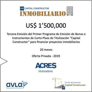 Financiamiento Capital Constructor Inmobiliario ACRES Finance