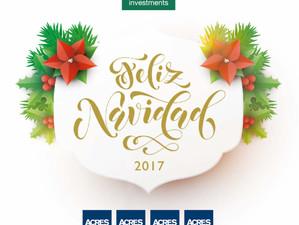 ACRES Investments les desea una      Feliz Navidad y un Próspero Año 2018