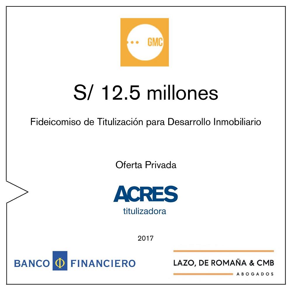 Banco Financiero | Estudio Lazo | ACRES Titulizadora | Fideicomiso de Titulización