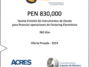 Fondo de ACRES SAFI invierte nuevamente para financiar factoring a MIPYMES