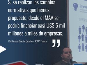 Cambios normativos permitirían que el MAV canalice financiamiento por casi USD 5 mil millones a mile