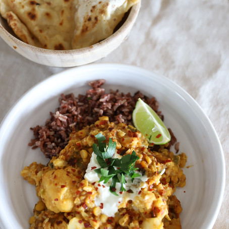 Cauliflower Dhal with Chapatis