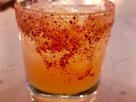 Summer '16 reposado tequila, giffard banane du Bresil, del maguey crema de mezcal, lime, flaming hot cheetos dust #delicious #yuzukitchenram