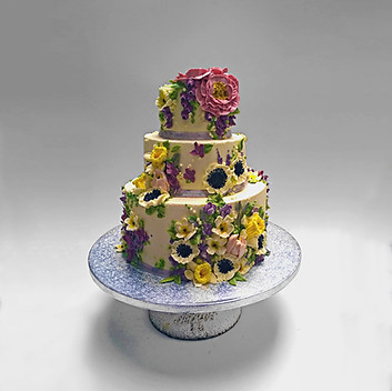 3 Tier with white peonies daffs.jpg