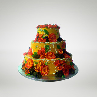 Orange wedding cake..jpg
