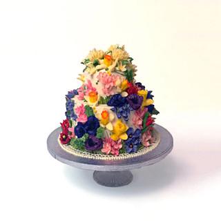 2 Tier Wedding cake  cake buttercream Ha