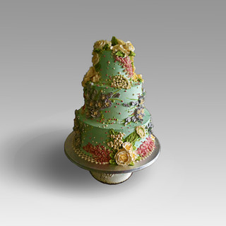 3 Tier turquoise wedding cake .jpg
