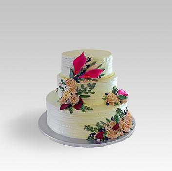 Buttercream wedding cake Katjas Cakes Ha