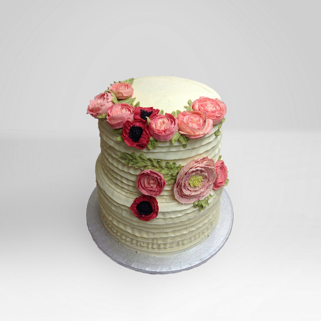 Wedding Cake with Peonies and poppies.jp