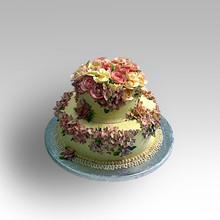 2 Tier wedding cake with roses.jpg