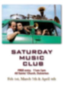 Saturday Music Club poster [Feb -  Apr 2