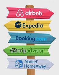 Plateformes de réservations Airbnb Expedia Booking.com Tripadvisor Abritel Homeaway