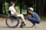woman-on-black-folding-wheelchair-202676