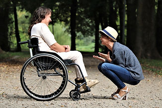 woman-on-black-folding-wheelchair-202676