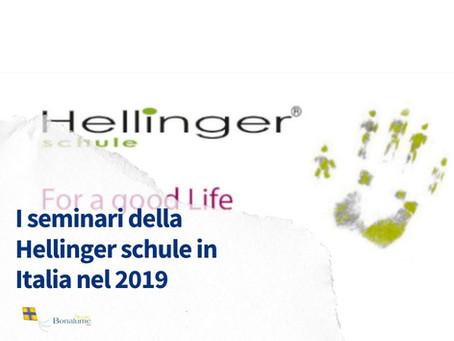 I seminari della Hellinger®schule in Italia nel 2019
