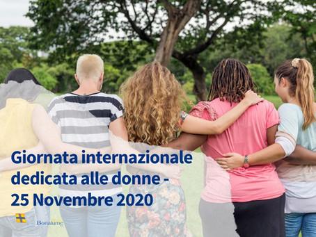 Giornata internazionale dedicata alle donne – 25 Novembre 2020