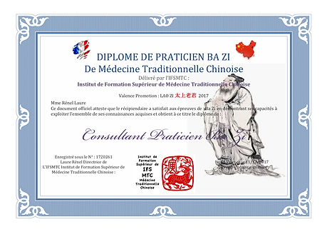 IFSMTC école d'acupuncteurs de Valence Stage de Ba Zi devenir Consultant en Ba Zi
