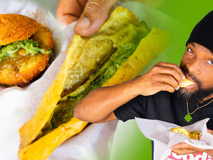 Saheena, Baiganee and Kachori on the Debe Doubles Strip in T&T | Foodie Finds