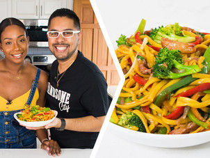 How To Make Chicken & Pork Lo Mein/Chinese Noodles