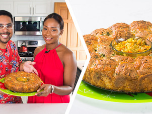 How To Bake A Christmas Ham Monkey Bread w/ Chow Chow Dip