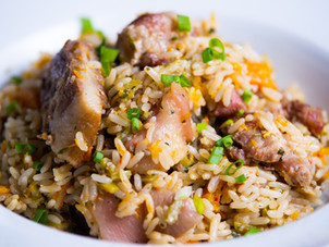 Ochro Rice with Pigtails & Smoked Bones Recipe by Chef Jeremy Lovell