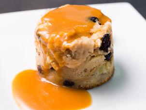 Rum & Raisin Bread Pudding with Caramel Sauce Recipe