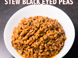 Trini Stewed Black Eyed Peas Recipe