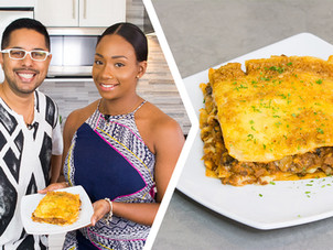 How To Make Trini Vegetarian (Soya) Lasagna