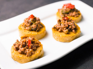 Open Faced Beef Pastelle Canape Recipe