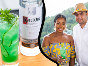 "Cucumber & Rosemary ""Blue Lagoon"" Cocktail for Carnival 
