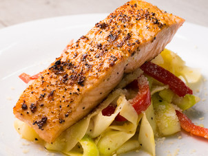 Zoodles with Pan Seared Salmon Recipe