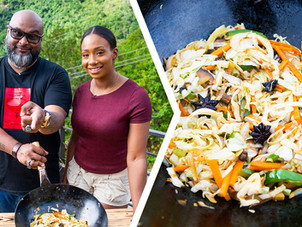 How To Make Trini Chow Mein/Stir Fry Vegetables