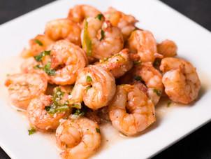 Bitters & Pineapple Parsley Glazed Shrimp Recipe