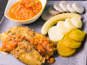 Fried Fish & Tomato Sauce with Ground Provisions Recipe