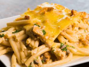 Buffalo Chicken Macaroni Pie Recipe