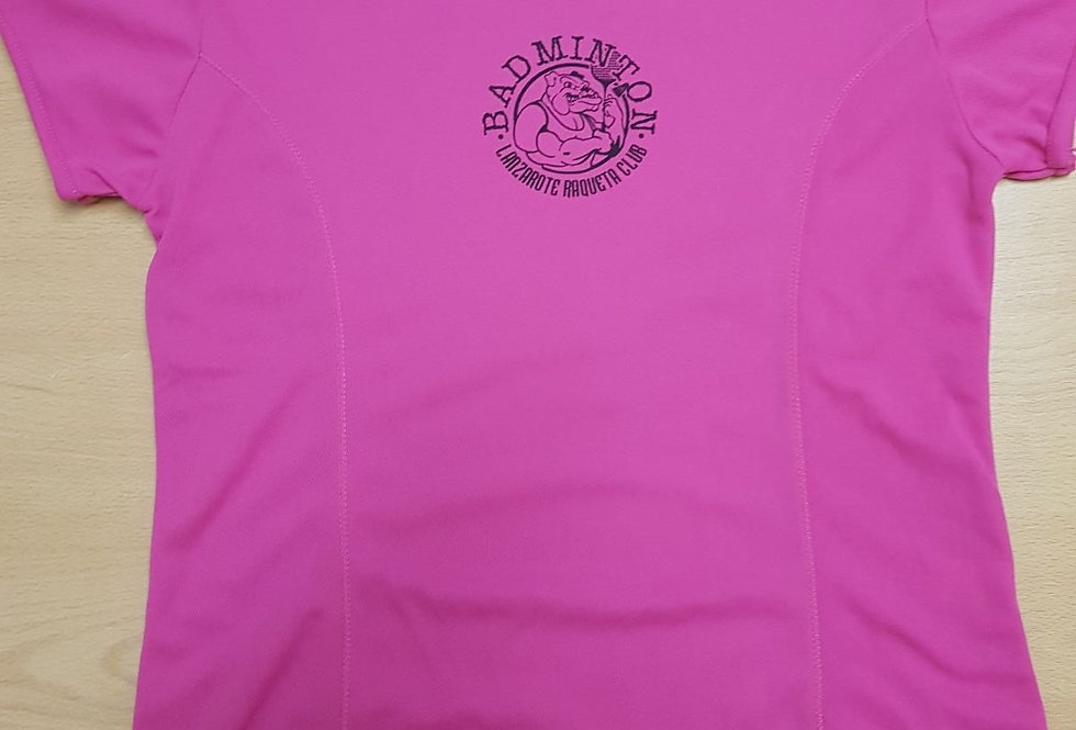 Camiseta Rosa Polyester