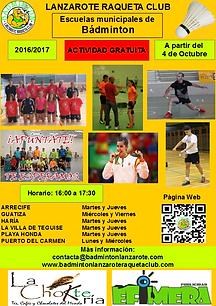 Escuelas de Badminton en Lanzarote: Arrecife, Playa Honda, Puerto del Carmen, Villa de Teguise, Haría y Guatiza