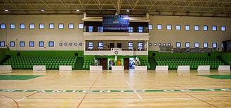 Interior del Pabellón Municipal de Teguise donde se practica badminton