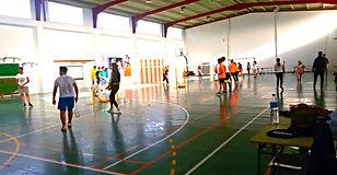 Interior del Pabellón IES Arrecife donde se practica badminton