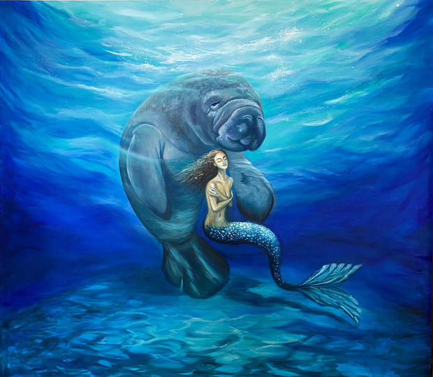 Manatee and Mermaid
