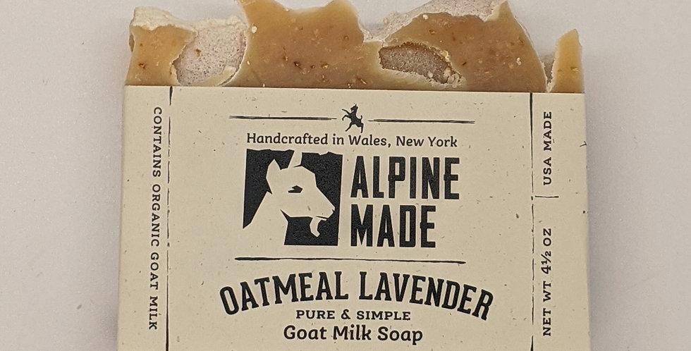 Oatmeal Lavender Goat Milk Soap