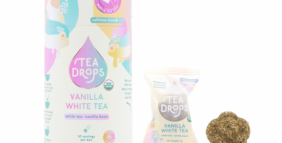 White Tea Vanilla Bean Tea Drops