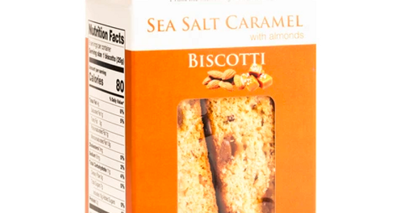 Sea Salt Caramel Biscotti