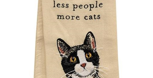 Less People, More Cats Towel