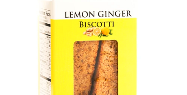 Lemon Ginger Biscotti with Walnuts