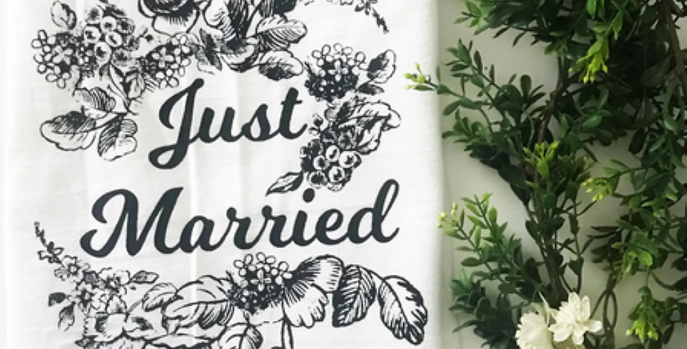 Just Married Kitchen Towel