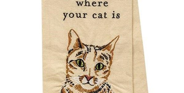 Home is Where Your Cat Is Towel