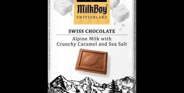 Alpine Milk Chocolate with Crunchy Caramel & Sea Salt