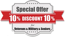 10% off for Veterans, Military and Serniors Coupon